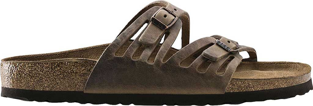 Women's Birkenstock Granada Soft Footbed, Tobacco Oiled Leather, large, image 2