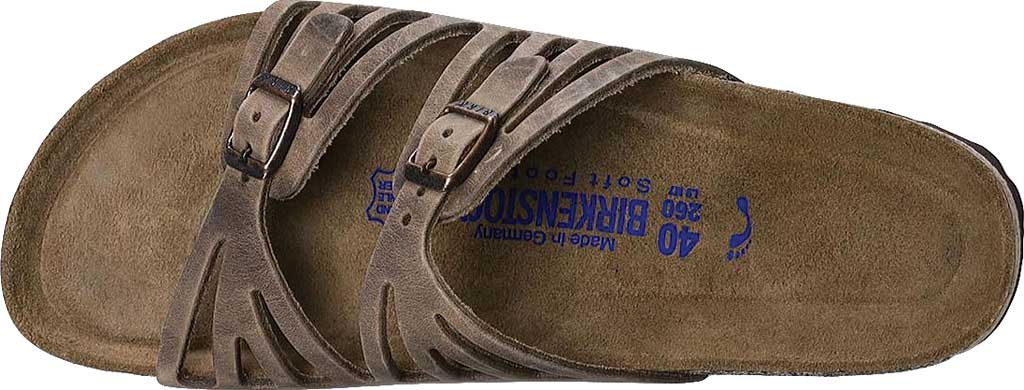 Women's Birkenstock Granada Soft Footbed, Tobacco Oiled Leather, large, image 5