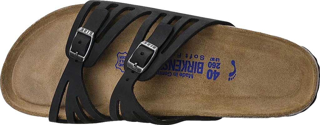 Women's Birkenstock Granada Soft Footbed, Black Oiled Leather, large, image 5