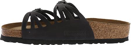 Women's Birkenstock Granada Soft Footbed, Black Oiled Leather, large, image 3