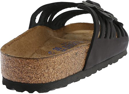 Women's Birkenstock Granada Soft Footbed, Black Oiled Leather, large, image 4