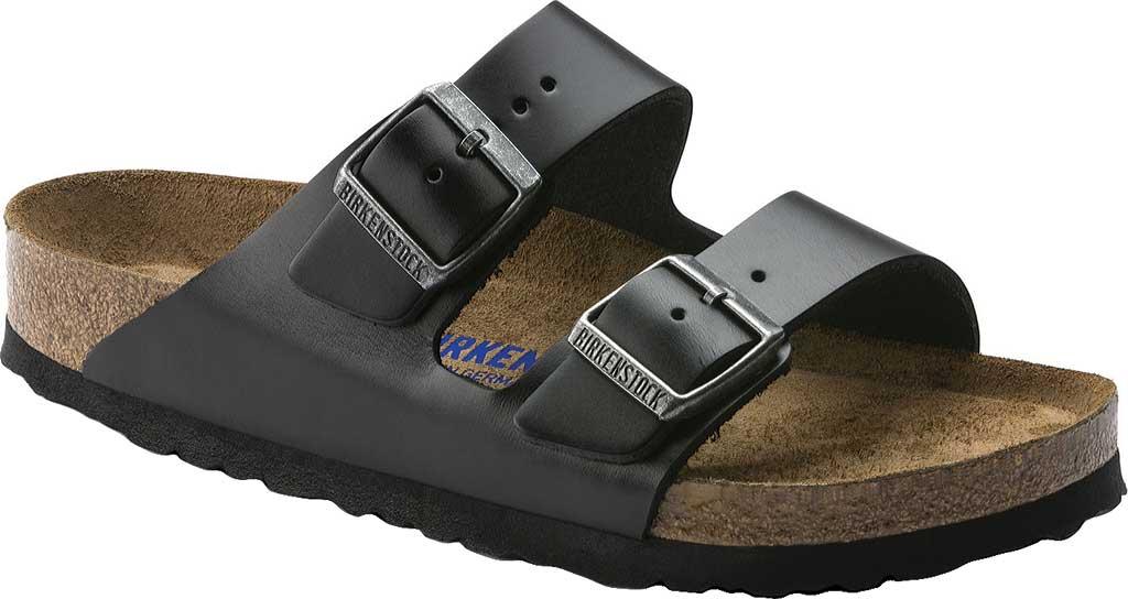 Birkenstock Arizona Amalfi Leather Sandal with Soft Footbed, Black Amalfi Leather, large, image 1
