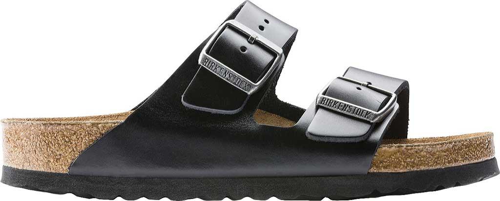 Birkenstock Arizona Amalfi Leather Sandal with Soft Footbed, Black Amalfi Leather, large, image 2