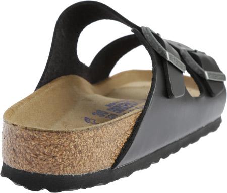 Birkenstock Arizona Amalfi Leather Sandal with Soft Footbed, Black Amalfi Leather, large, image 4