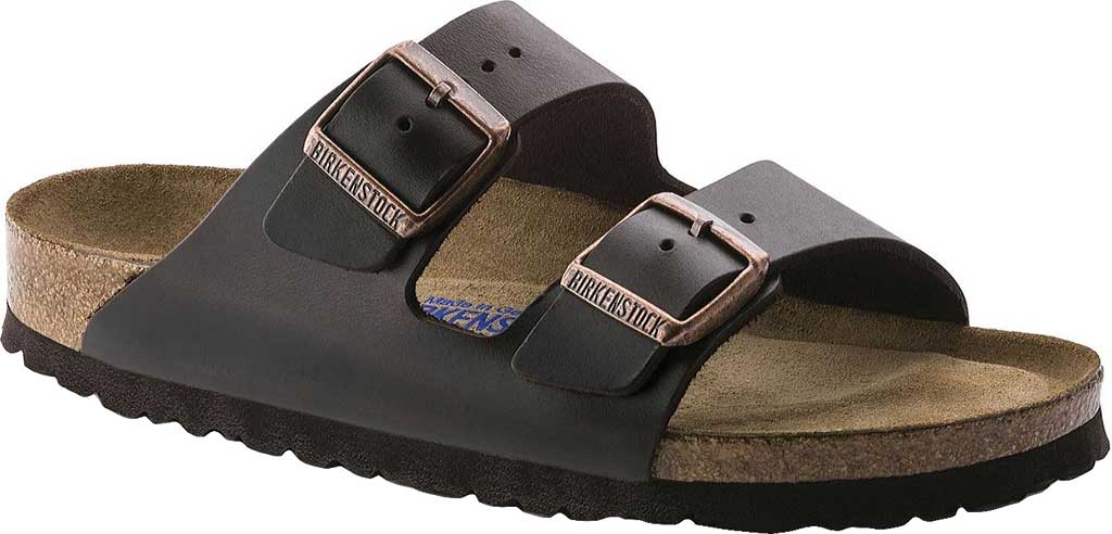 Birkenstock Arizona Amalfi Leather Sandal with Soft Footbed, Brown Amalfi Leather, large, image 1