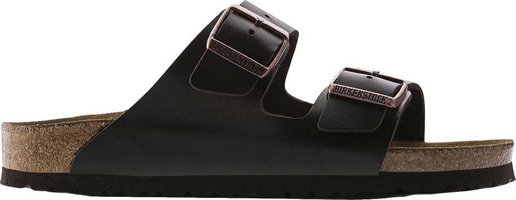 Birkenstock Arizona Amalfi Leather Sandal with Soft Footbed, Brown Amalfi Leather, large, image 2