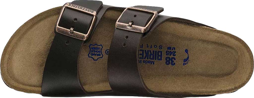 Birkenstock Arizona Amalfi Leather Sandal with Soft Footbed, Brown Amalfi Leather, large, image 5