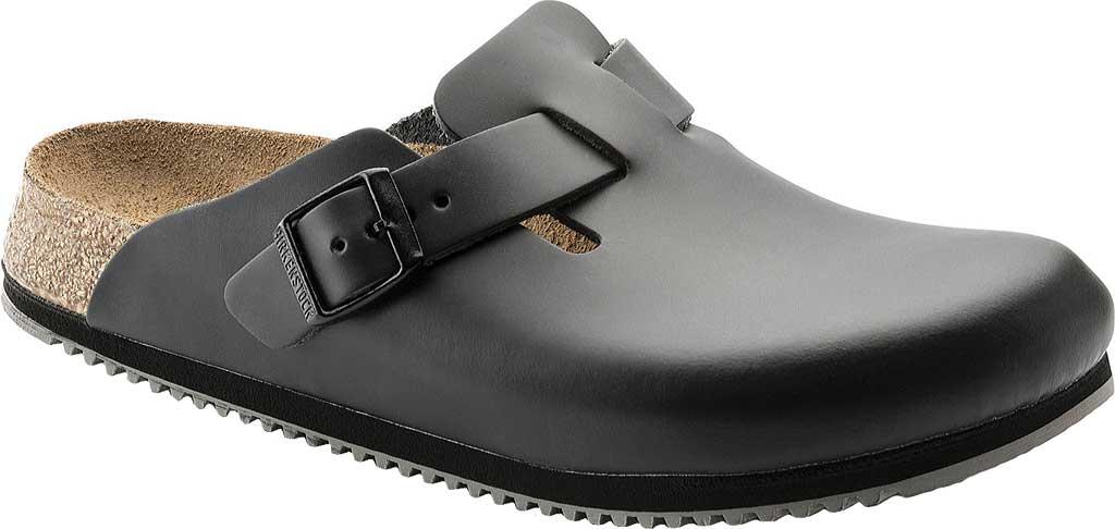 Birkenstock Boston Super Grip, Black Leather, large, image 1