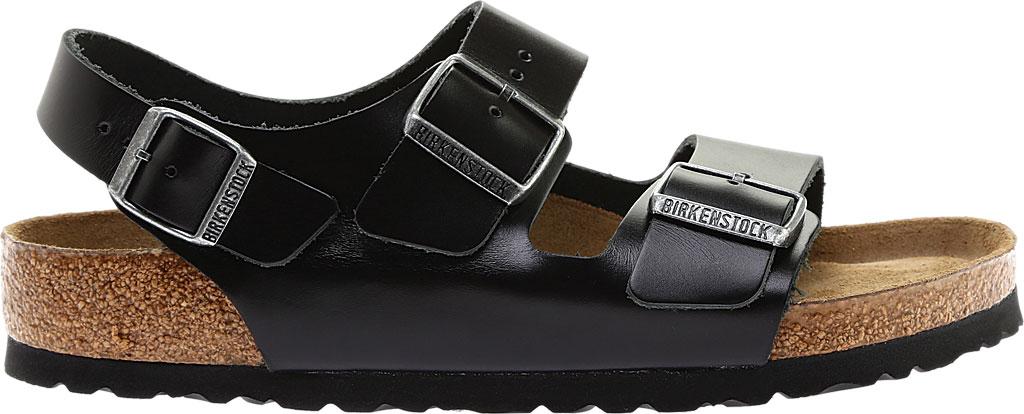 Birkenstock Milano Amalfi Leather with Soft Footbed, Black Amalfi Leather, large, image 2
