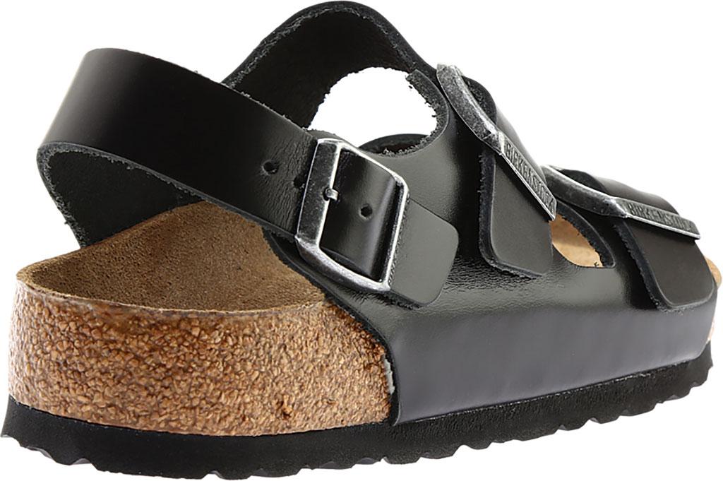 Birkenstock Milano Amalfi Leather with Soft Footbed, Black Amalfi Leather, large, image 4