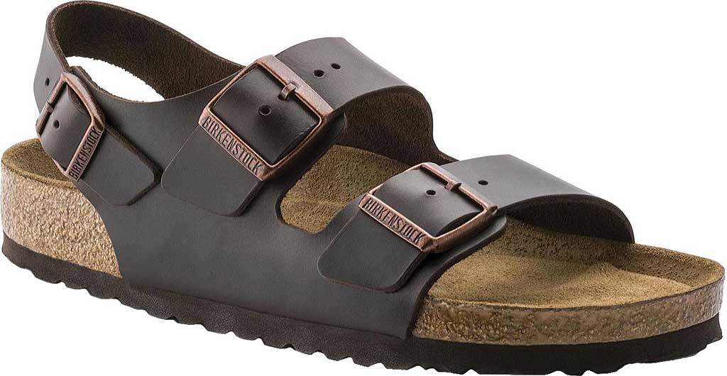 Birkenstock Milano Amalfi Leather with Soft Footbed, Brown Amalfi Leather, large, image 1