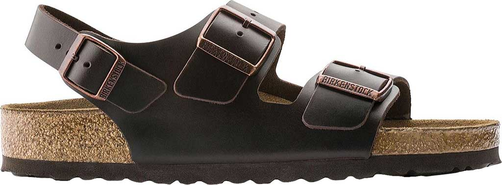 Birkenstock Milano Amalfi Leather with Soft Footbed, Brown Amalfi Leather, large, image 2
