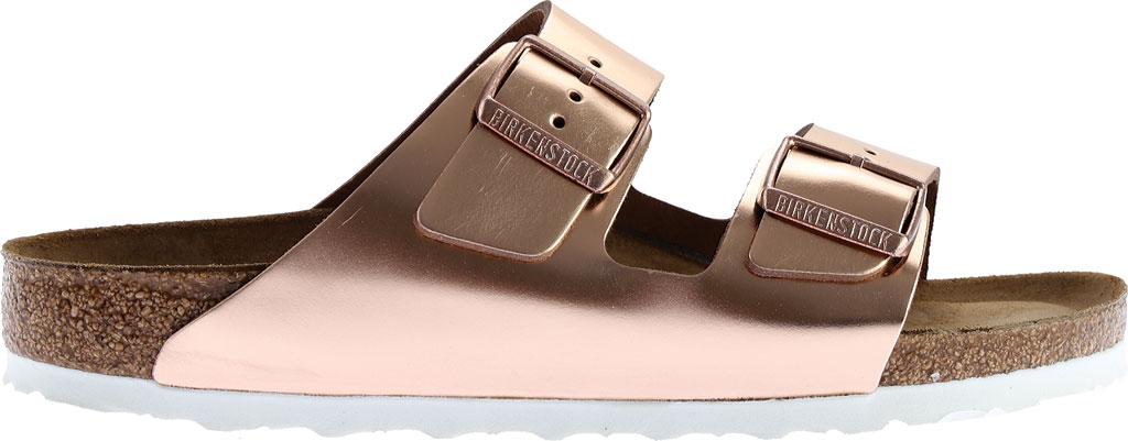 Women's Birkenstock Arizona Soft Footbed Leather Sandal, Copper Metallic, large, image 2