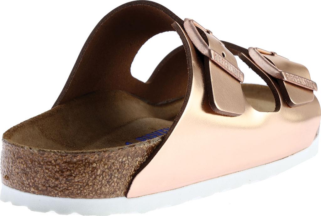 Women's Birkenstock Arizona Soft Footbed Leather Sandal, Copper Metallic, large, image 4