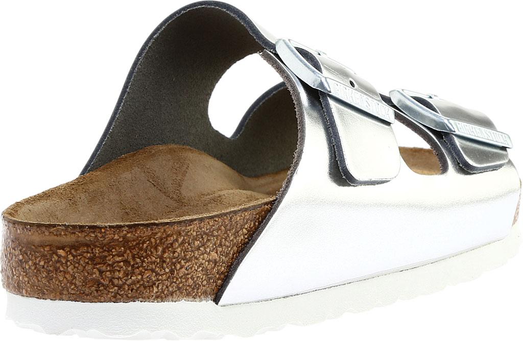 Women's Birkenstock Arizona Soft Footbed Leather Sandal, Metallic Silver Leather, large, image 4