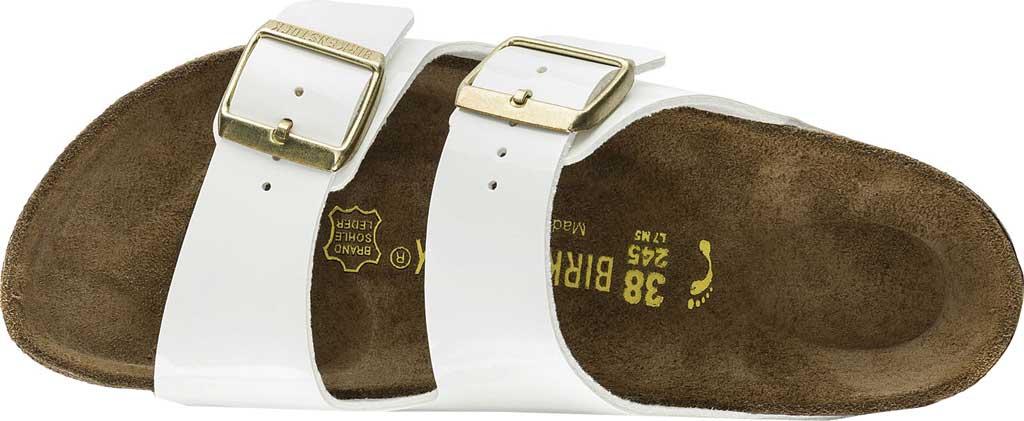 Women's Birkenstock Arizona Birko-Flor Slide Sandal, White Patent Birko-Flor, large, image 3