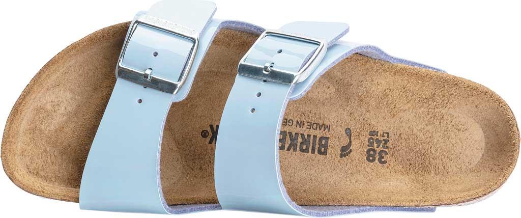 Women's Birkenstock Arizona Birko-Flor Slide Sandal, Dove Blue Patent Birko-Flor, large, image 2