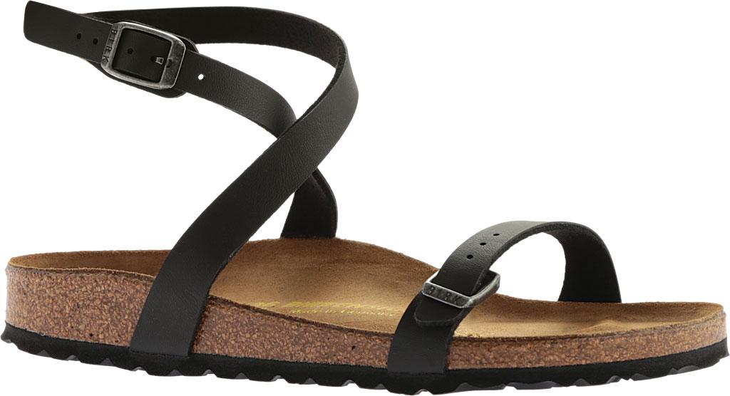 Women's Birkenstock Daloa Ankle Strap Sandal, Black Birko-Flor, large, image 1