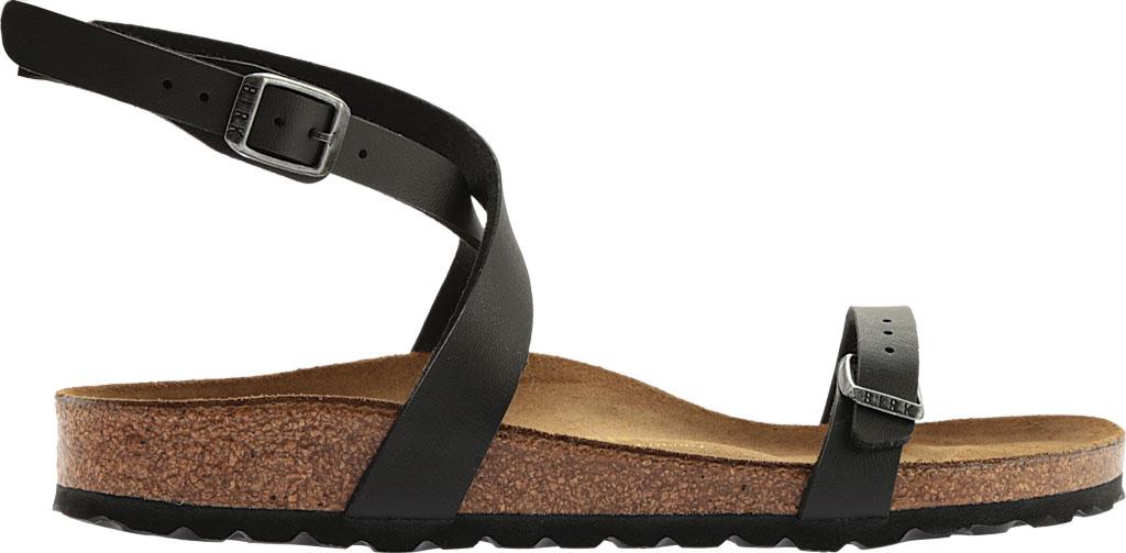 Women's Birkenstock Daloa Ankle Strap Sandal, Black Birko-Flor, large, image 2
