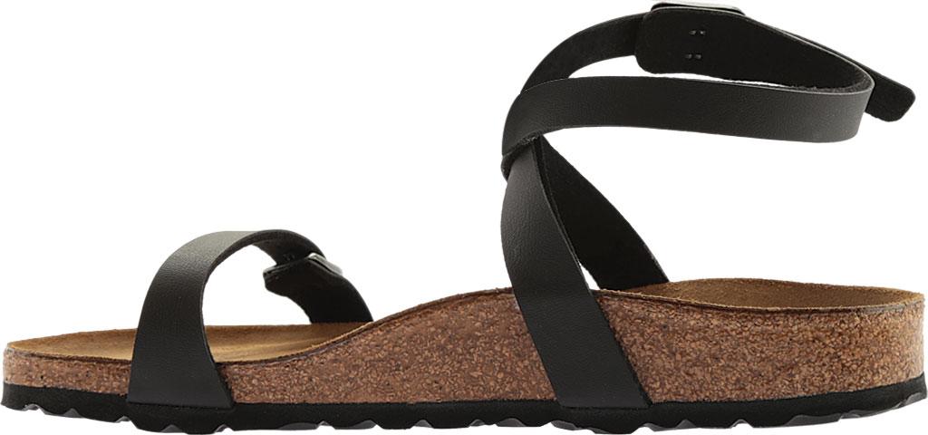 Women's Birkenstock Daloa Ankle Strap Sandal, Black Birko-Flor, large, image 3
