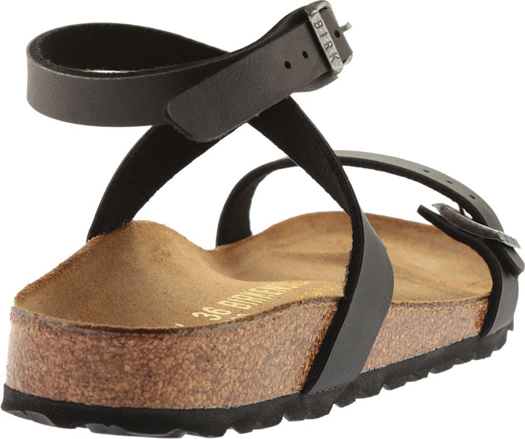 Women's Birkenstock Daloa Ankle Strap Sandal, Black Birko-Flor, large, image 4