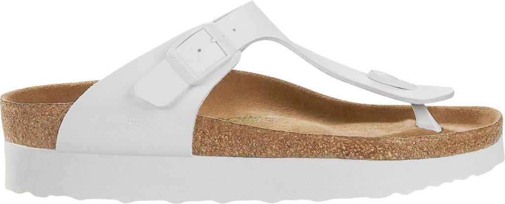 Women's Birkenstock Papillio Gizeh Platform Thong Sandal, White Birko-Flor, large, image 2