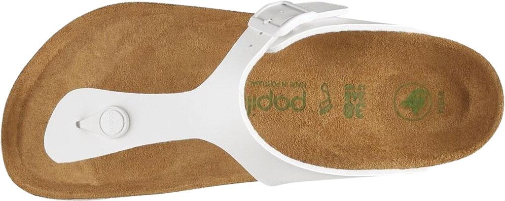 Women's Birkenstock Papillio Gizeh Platform Thong Sandal, White Birko-Flor, large, image 3