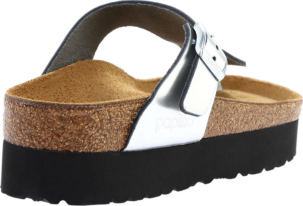 Women's Birkenstock Papillio Gizeh Platform Thong Sandal, White Birko-Flor, large, image 4