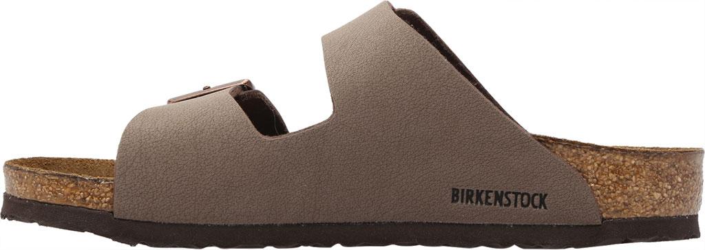 Children's Birkenstock Arizona Birkibuc Sandal, Mocha Birkibuc, large, image 3