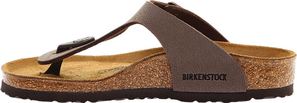 Girls' Birkenstock Gizeh Birkibuc Sandal, Mocha Birkibuc, large, image 3