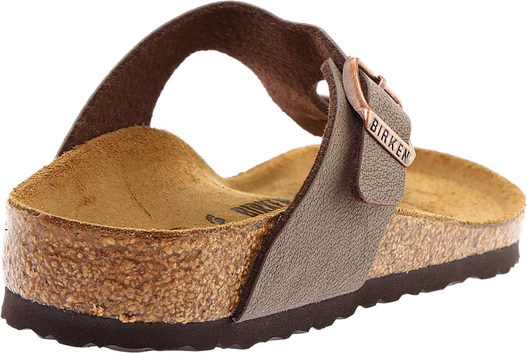 Girls' Birkenstock Gizeh Birkibuc Sandal, Mocha Birkibuc, large, image 4