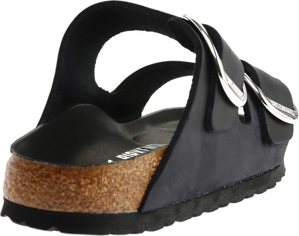 Women's Birkenstock Arizona Big Buckle Oiled Leather Slide, Black Oiled Leather, large, image 4