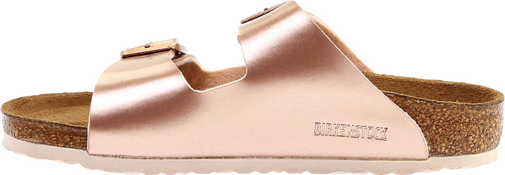 Children's Birkenstock Arizona Birko-Flor Slide, Electric Metallic Copper Birko Flor, large, image 3