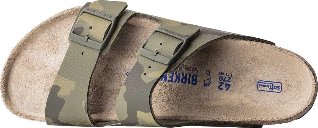 Men's Birkenstock Arizona Soft Footbed Birko-Flor Slide, Desert Soil Camo Green Birko-Flor, large, image 2