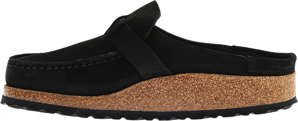 Women's Birkenstock Buckley Mule, Black Suede, large, image 3