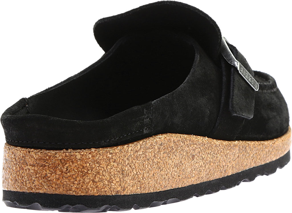Women's Birkenstock Buckley Mule, Black Suede, large, image 4