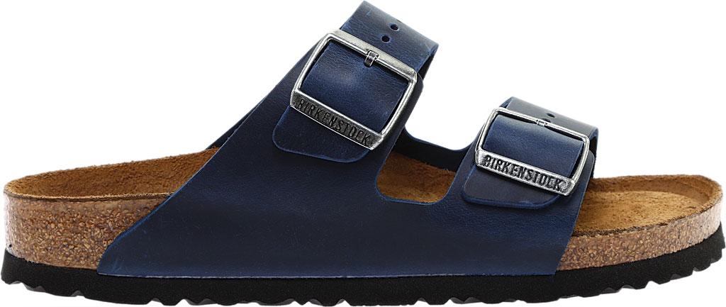 Birkenstock Arizona Soft Footbed Oil Leather Slide, Blue Oiled Leather, large, image 2