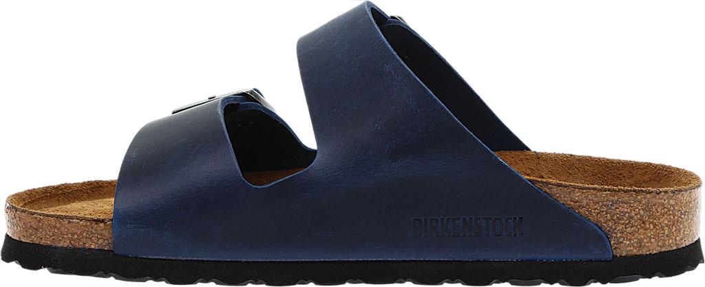 Birkenstock Arizona Soft Footbed Oil Leather Slide, Blue Oiled Leather, large, image 3