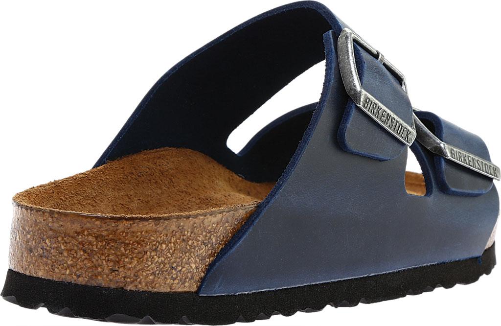 Birkenstock Arizona Soft Footbed Oil Leather Slide, Blue Oiled Leather, large, image 4