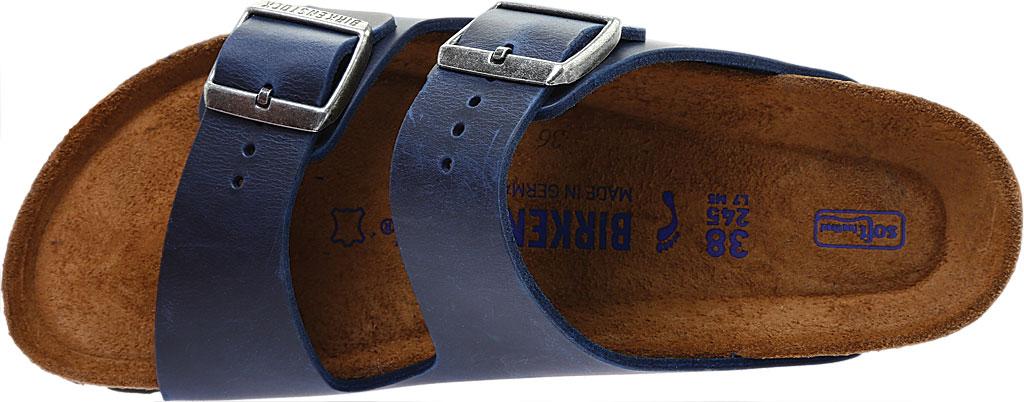 Birkenstock Arizona Soft Footbed Oil Leather Slide, Blue Oiled Leather, large, image 5