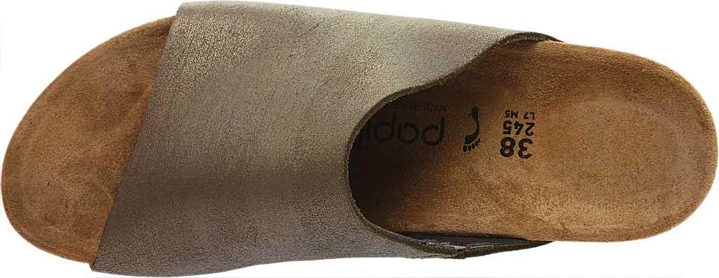 Women's Birkenstock Papillio Namica Wedge Slide, Metallic Stone Gold Leather, large, image 5