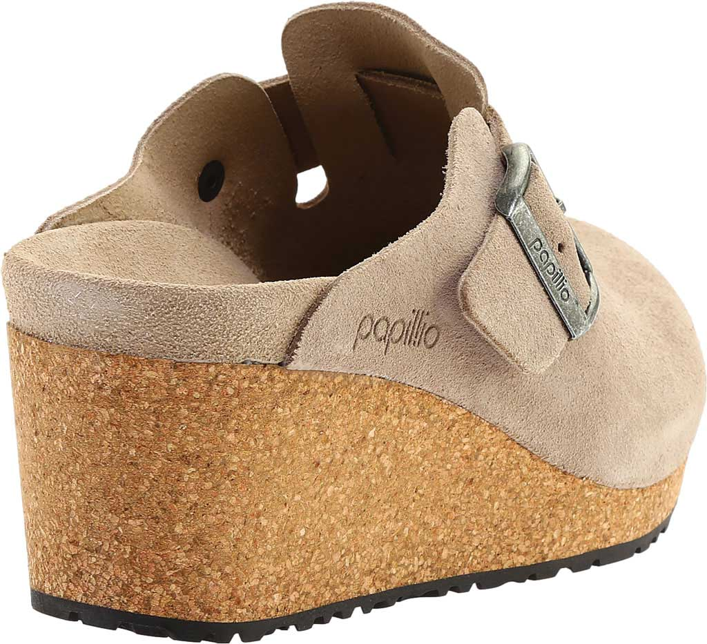 Women's Birkenstock Fanny Wedge Clog, Taupe Suede, large, image 4