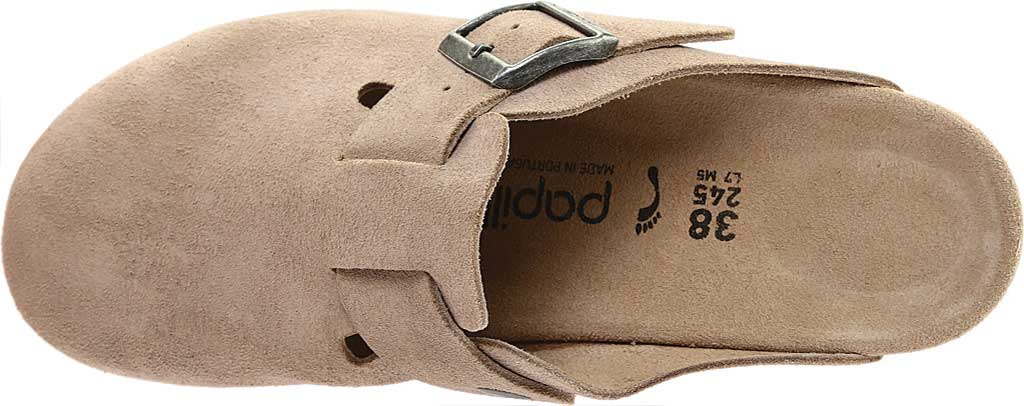 Women's Birkenstock Fanny Wedge Clog, Taupe Suede, large, image 5
