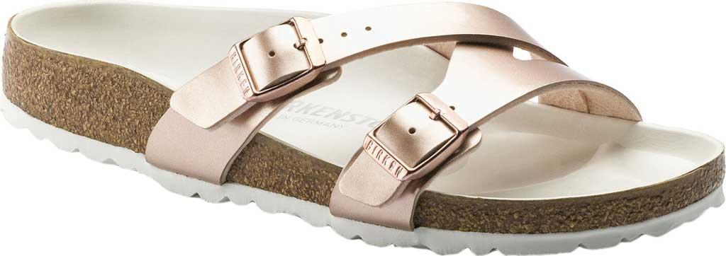 Women's Birkenstock Yao Hex Slide, Copper Birko-Flor, large, image 1