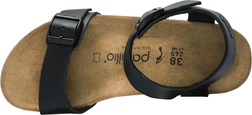 Women's Birkenstock Papillio Soley Ankle Strap Wedge Sandal, Black Leather, large, image 3