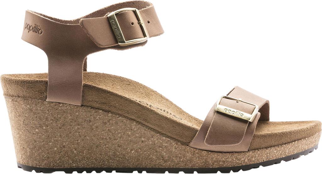 Women's Birkenstock Papillio Soley Ankle Strap Wedge Sandal, Light Cognac Leather, large, image 2