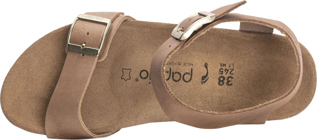 Women's Birkenstock Papillio Soley Ankle Strap Wedge Sandal, Light Cognac Leather, large, image 3