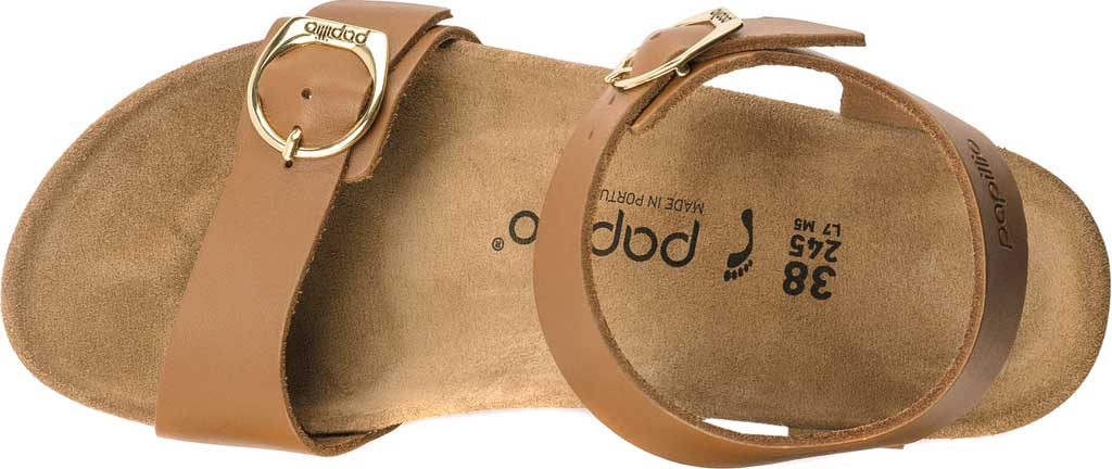 Women's Birkenstock Papillio Soley Ankle Strap Wedge Sandal, Ginger Brown Leather, large, image 3