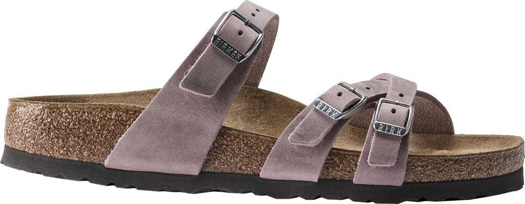 Women's Birkenstock Franca Slide, Lavender Blush Oiled Leather, large, image 2