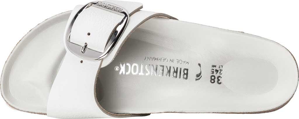 Women's Birkenstock Madrid Big Buckle Slide, White Leather, large, image 2